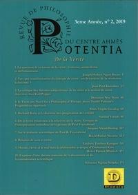 Dianoia - Potentia - revue de philosophie du centre Ahmés N° 2/2019 : De la Vérité.
