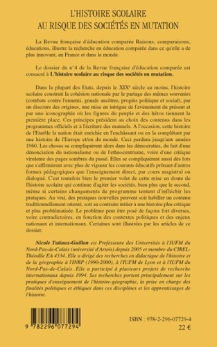 Raisons, comparaisons, éducations N° 4, Janvier 2009 L'histoire scolaire au risque des sociétés en mutation