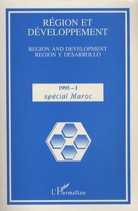 Maurice Catin - Région et Développement N° 1, 1995 : Spécial Maroc.