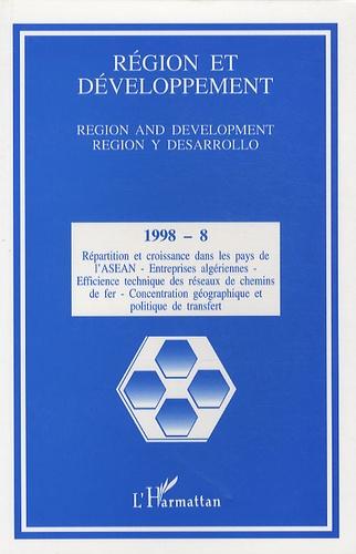 Jean-Yves Caro - Région et Développement N° 8-1998 : .