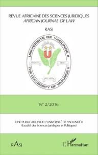 Magloire Ondoa - Revue africaine des sciences juridiques N° 2/2016 : .