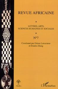 Oriane Letourneur et Doudou Dieng - Revue africaine N° 7 : .