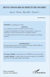 L'Harmattan - Revue congolaise de droit et des affaires N° 5, Janvier-Févrie : .