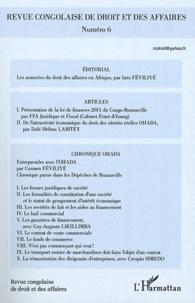 Inès Féviliyé - Revue congolaise de droit et des affaires N° 6, Avril-Mai-Juin : .
