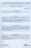 Inès Féviliyé - Revue congolaise de droit et des affaires N° 8, Avril-Mai-Juin : .