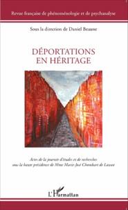 Daniel Beaune - Revue française de phénoménologie et de psychanalyse  : Déportations en héritage.