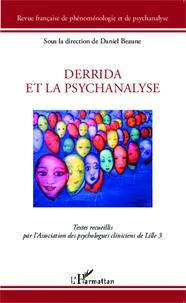 Daniel Beaune - Revue française de phénoménologie et de psychanalyse Numéro spécial : Derrida et la psychanalyse - Textes recueillis par l'Association des psychologues cliniciens de Lille 3.