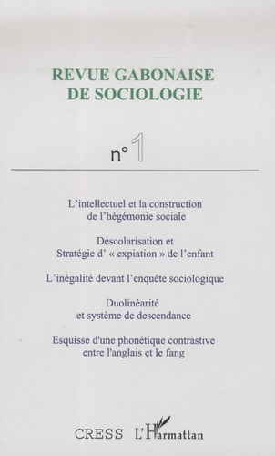Joseph Tonda - Revue Gabonaise de Sociologie N° 1 : .