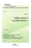 """Véronique Leclercq et Christine Bazin - Savoirs N° 14, 2007 : Faible niveau et """"seconde chance""""."""