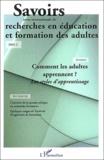 Daniel Chartier et Etienne Bourgeois - Savoirs N° 2/2003 : Comment les adultes apprennet ? - Les styles d'apprentissage.