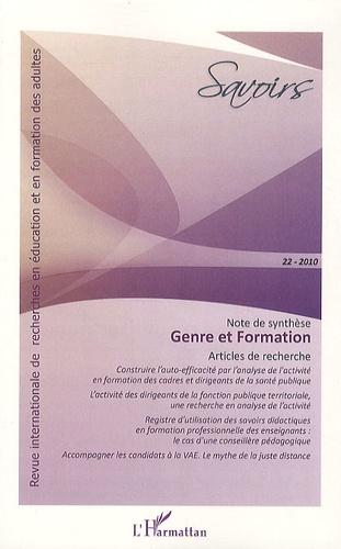 Solveig Fernagu-Oudet - Savoirs N° 22, 2010 : Genre et formation.