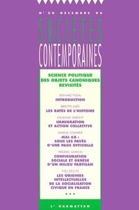 Bernard Pudal - Sociétés contemporaines N° 20, Décembre 1994 : Science politique - Des objets canoniques revisités.