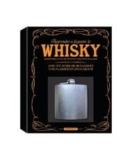 L'imprévu - Apprendre à déguster le whisky - L'essentiel pour devenir un amateur éclairé, avec un guide de 128 pages et une flasque en inox gravé.