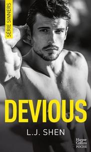 """L.J. Shen - Devious - Après """"Vicious"""", le tome 2 de la série New Adult à succès """"SINNERS""""."""