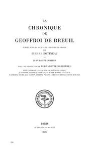 Jean-Loup Lemaître - La chronique de Geoffroi de Breuil prieur de vigeois.