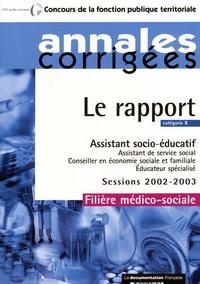 Rhonealpesinfo.fr Assistant socio-éducatif, Catégorie B - Session 2002-2003, filière médico-sociale Image