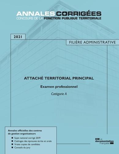 Attaché territorial principal. Examen professionnel Catégorie A  Edition 2021