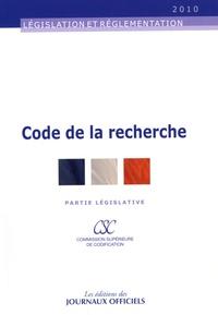 Code de la recherche- Partie législative -  La Documentation Française pdf epub