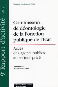 La Documentation Française - Commission de déontologie de la Fonction publique de l'Etat - Accès des agents publics au secteur privé.