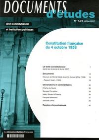 La Documentation Française - Constitution française du 4 octobre 1958.
