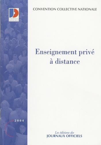 La Documentation Française - Enseignement privé à distance - Convention collective nationale du 21 Juin 1999.