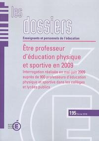La Documentation Française - Etre professeur d'éducation physique et sportive en 2009 - Interrogation réalisée en mai-juin 2009 auprès de 900 professeurs d'éducation physique et sportive dans les collèges et lycées publics.