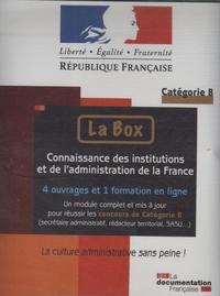 Deedr.fr La Box : Connaissance des institutions et de l'administration de la France - 4 Ouvrages et 1 Formation en ligne, Catégorie B Image