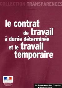 La Documentation Française - Le contrat de travail à durée déterminée et le travail temporaire.