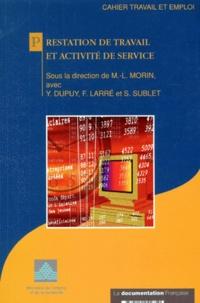 La Documentation Française et Marie-Laure Morin - Prestation de travail et activité de service.