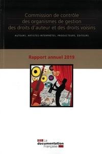 Rapport annuel 2019 Commission de contrôle des organismes de gestion des doits dauteur et des droits voisins.pdf