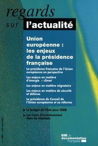 Brigitte Masquet - Regards sur l'actualité N° 340, Avril-mai 20 : Union européenne : les enjeux de la présidence française.