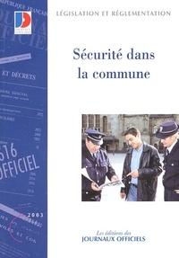 La Documentation Française - Sécurité dans la commune.