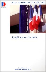 La Documentation Française - Simplification du droit.