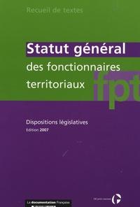 Statut général des fonctionnaires territoriaux - Dispositions législatives.pdf