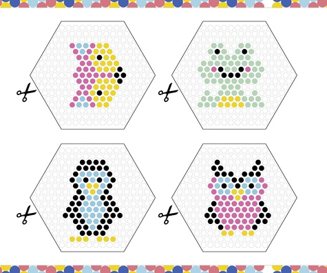 Décos en perles à eau. Avec 600 perles à eau, 8 modèles de création en papier, 4 planches pour fabriquer des cadres en papier, une grille, une pince et une bouteille spray