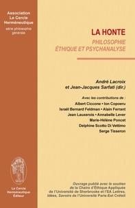 André Lacroix - La honte ;  philosophie, éthique et psychanalyse.