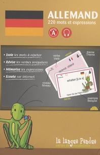 La Langue Pendue - Cartes de vocabulaire allemand-français partie A - 220 mots et expressions.