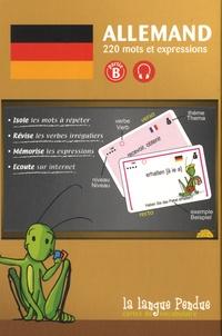 La Langue Pendue - Cartes de vocabulaire allemand-français partie B - 220 mots et expressions.