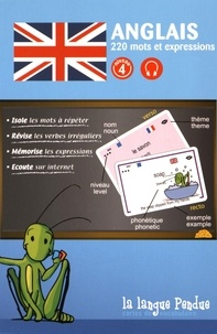 La Langue Pendue - Cartes de vocabulaire anglais-français niveau 4.
