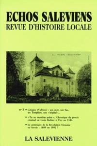 Claude Barbier et Philippe Duret - Echos saleviens N° 3-1993 : .