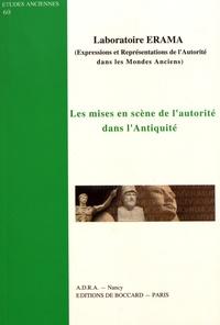 Laboratoire ERAMA - Les mises en scène de l'autorité dans l'Antiquité.