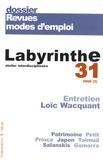 Laurence Marie et Pierre Savy - Labyrinthe N° 31/2008 (3) : Revues modes d'emploi.