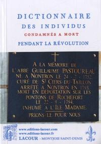Lacour Editeur - Dictionnaire des individus condamnés à mort pendant la Révolution.