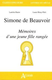 Laetitia Hanin et Laure Himy-Piéri - Simone de Beauvoir - Mémoires d'une jeune fille rangée.
