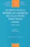 Laetitia Janicot - Les droits des élus, membres des assemblées des collectivités territoriales.