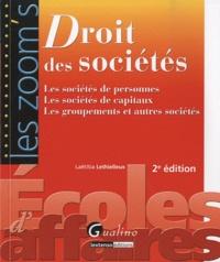 Laëtitia Lethielleux - Droit des sociétés - Les sociétés de personnes, les sociétés de capitaux, les groupements et autres sociétés.