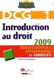 Laëtitia Lethielleux - Introduction au droit DCG1 - Manuel complet, applications et corrigés.