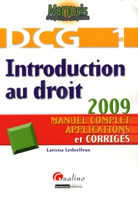 Laëtitia Lethielleux - Introduction au droit DCG1 - Manuel complet, applications et corrigés.