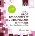 Laëtitia Simonet - Droit des sociétés et des groupements d'affaires DCG 2 - Cours et applications corrigées.