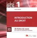Laëtitia Simonet - Introduction au droit DCG 1 - 26 fiches de cours pour acquérir les connaissances nécessaires.